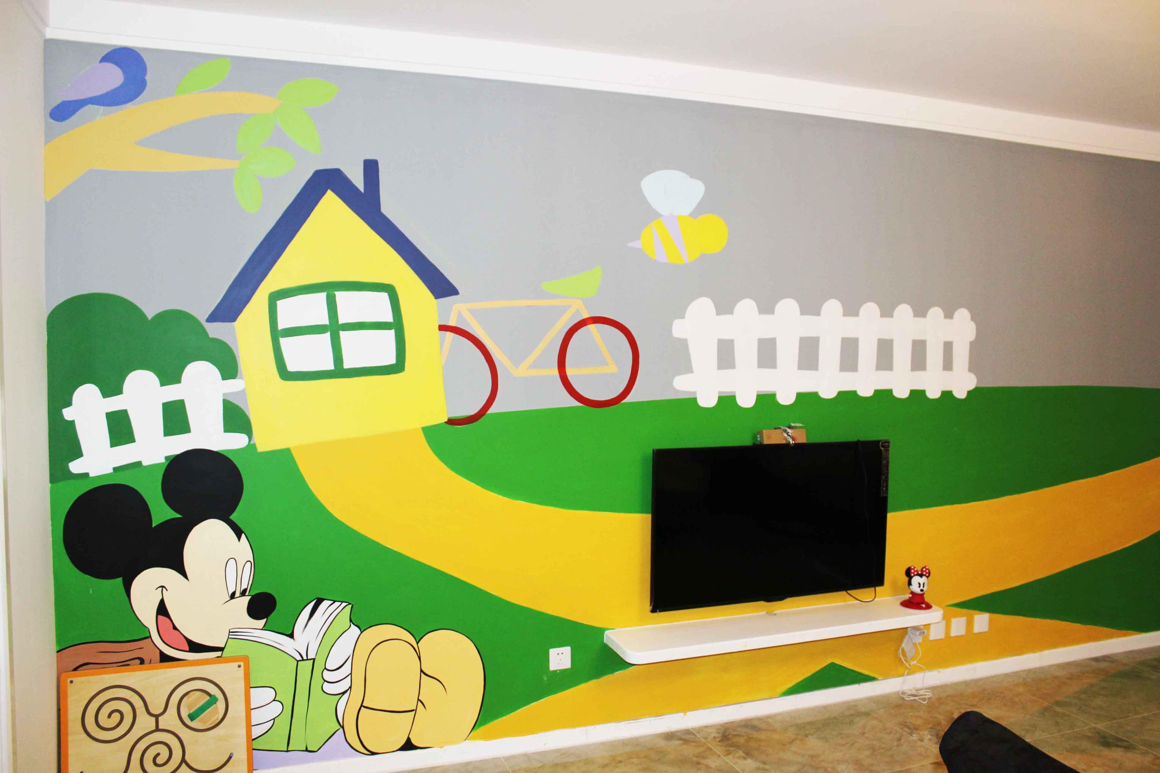 手绘墙,墙体彩绘